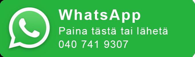 Ota yhteyttä WhatsAppilla, paina tästä tai lähetä +358407419307