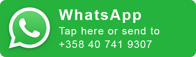 Contact through WhatsApp, tap here or send to +358407419307