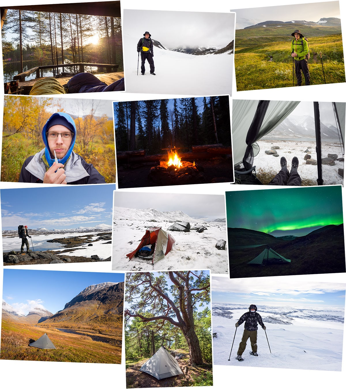 Adventures and hiking in nature, from Southern Finland to Lapland, in national parks and in wilderness. Finland, Sweden, Norway. Part 2 of 2.