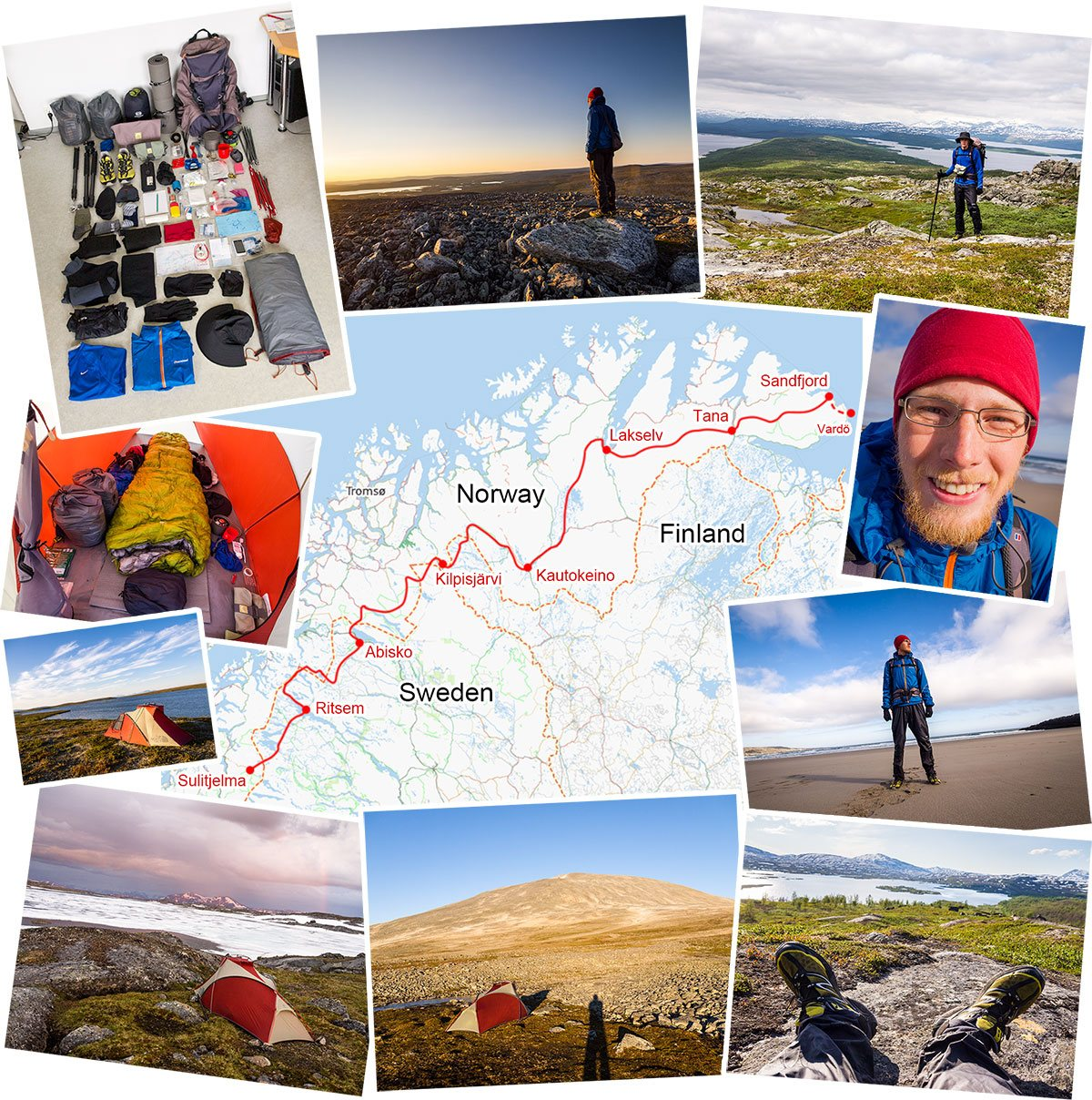 Mikko Sinisalo's adventure in Lapland, hiking the Nordkalottruta/Nordkalottleden and a bit more. Hike across the Northern Norway.