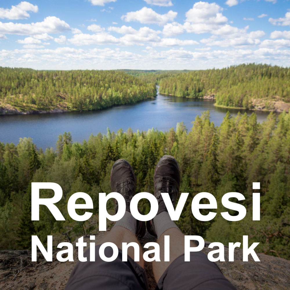 Guided hiking tour to Repovesi National Park from Helsinki, Finland.