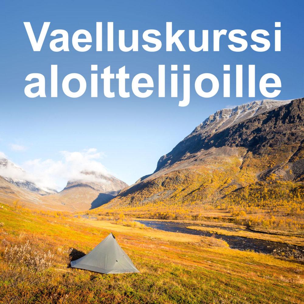 Vaelluskurssi aloittelijoille Helsingissä.